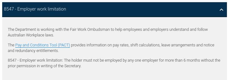 オーストラリアのワーホリ、最大6ヶ月間でしか同じ雇用主の下で働けません