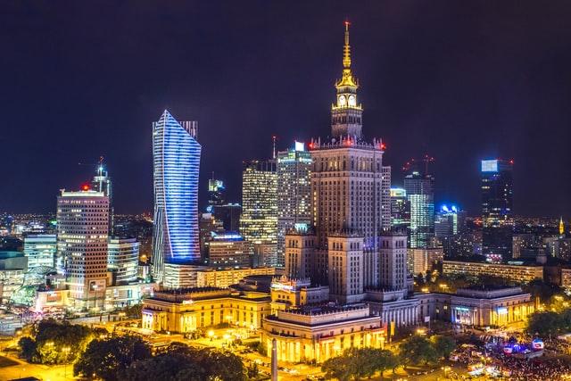 ワルシャワの夜景